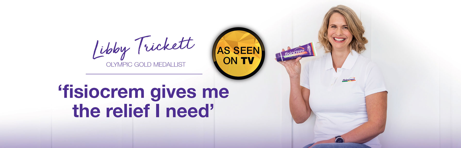 Libby Trickett - 'fisiocrem gives me the relief I need'